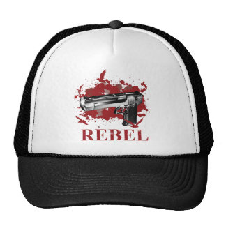 Wellcoda Pistol Blood Bullet Rabel Bird Trucker Hat