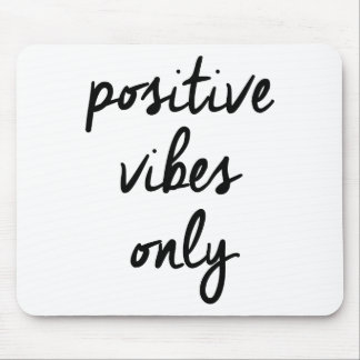 Wellcoda Positive Vibes Only UK Positivity Mouse Pad