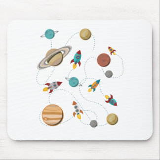 Wellcoda Rocket Space Landing Moon Wars Mouse Pad
