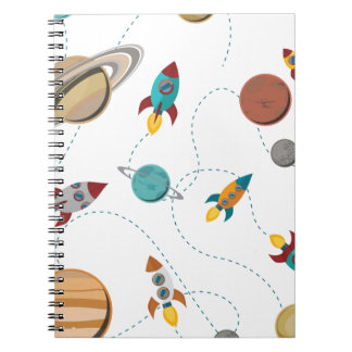 Wellcoda Rocket Space Landing Moon Wars Note Books