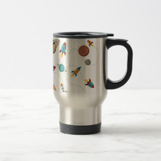 Wellcoda Rocket Space Landing Moon Wars Travel Mug