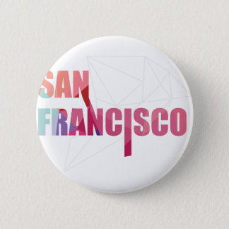 Wellcoda San Francisco City USA California Golden 2 Inch Round Button