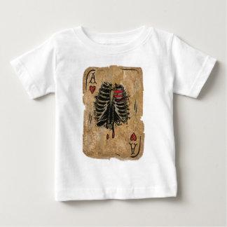 Wellcoda Skeleton Ace Hearts Ribcage Card Baby T-Shirt