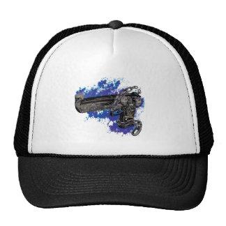 Wellcoda Skeleton Revolver Pistol Chain Trucker Hat