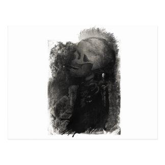 Wellcoda Skull Scary Macabre Power Death Postcard