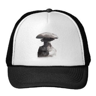 Wellcoda Smoking Human Head Mushroom Face Trucker Hat