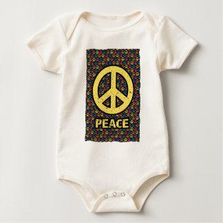 Wellcoda Spread Peace Not War Harmony Fun Baby Bodysuit