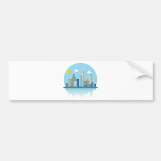 Wellcoda Sun City View Town Sydney Coast Bumper Sticker