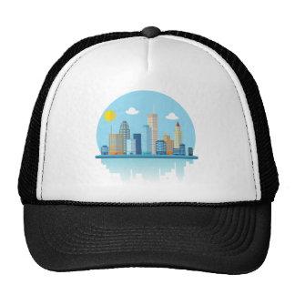 Wellcoda Sun City View Town Sydney Coast Trucker Hat