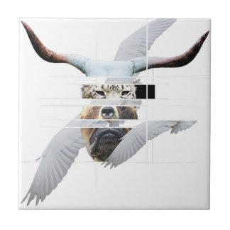 Wellcoda Tiger Bear Dog Face Weird Beast Tiles