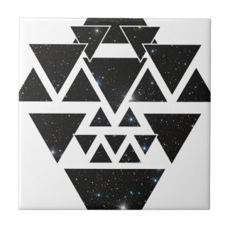 Wellcoda Triangle Star Night Sky Line Love Ceramic Tile