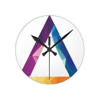 Wellcoda Triangle Summer Vibe Crazy Shape Round Clock