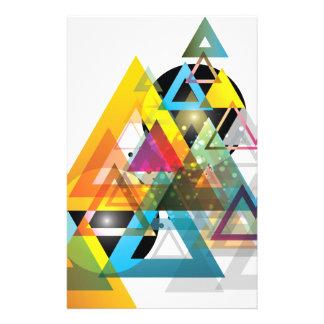 Wellcoda Triangle Sun System World Crazy Stationery Paper