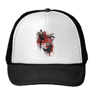 Wellcoda Vampire Kiss Blood Pistol Gun Trucker Hat