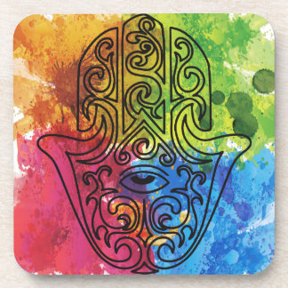Wellcoda Vibrant Indian Symbol Asian Life Coasters