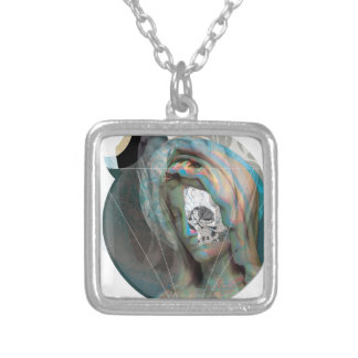 Wellcoda Virgin Mary Sculpture Holy Head Silver Plated Necklace