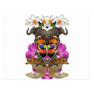 Wellcoda Wild Animal Paradise Pearl Clam Postcard