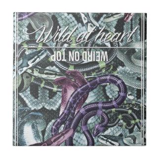 Wellcoda Wild At Heart Weird On Top Snake Tiles