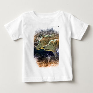 Wellcoda Wild Nature Wolf Pack Lone Grey Baby T-Shirt