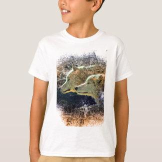 Wellcoda Wild Nature Wolf Pack Lone Grey T-Shirt