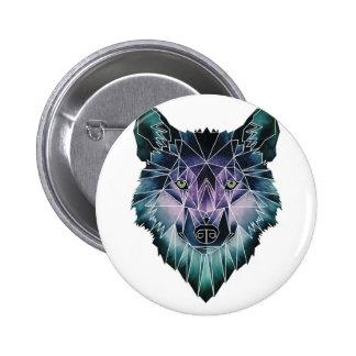 Wellcoda Wild Wolf Face Pack Animal Life 2 Inch Round Button