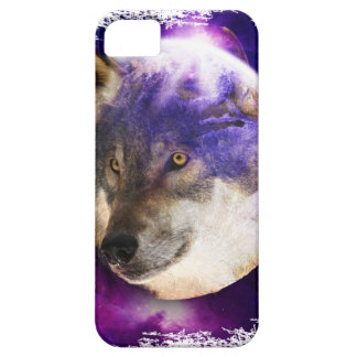 Wellcoda Wild Wolf Moon Earth Animal Face iPhone 5 Cover