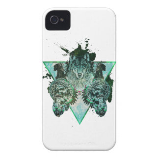 Wellcoda Wolf Indian Curse Native Force iPhone 4 Cover