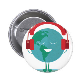 Wellcoda World Beats Music Global Tune 2 Inch Round Button