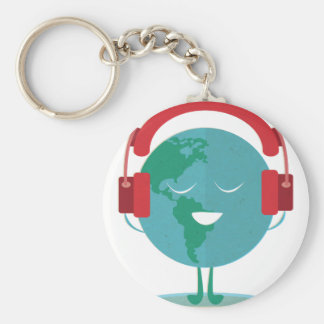 Wellcoda World Beats Music Global Tune Keychain
