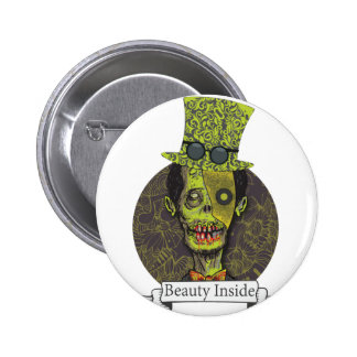 Wellcoda Zombie Dead Monster Scary Creepy 2 Inch Round Button