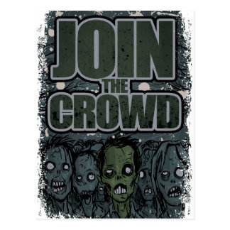 Wellcoda Zombie Monster Crowd Dead Scary Postcard