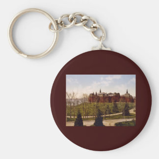 Wellesley College Massachusetts Basic Round Button Keychain
