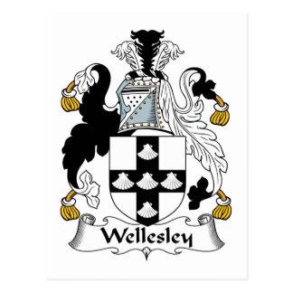 Wellesley Family Crest Postcard
