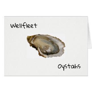 Wellfleet Oystahs Greeting Card