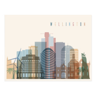 Wellington, New Zealand   City Skyline Postcard