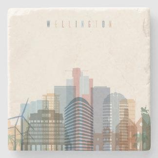 Wellington, New Zealand | City Skyline Stone Coaster