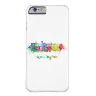 Wellington skyline in watercolor barely there iPhone 6 case