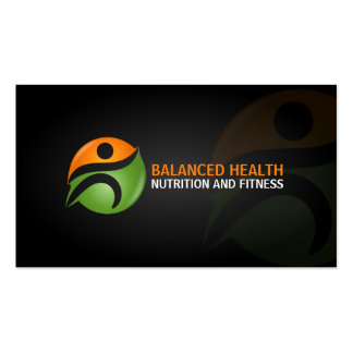 Wellness and Nutrition Coach Business Card