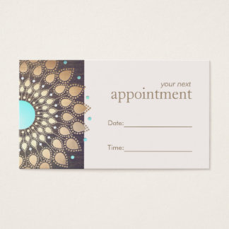 Wellness Counselor Appointment Reminder Business Card