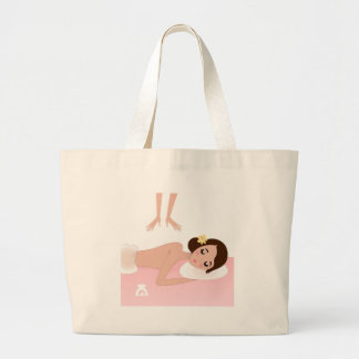 Wellness girl t-shirts large tote bag