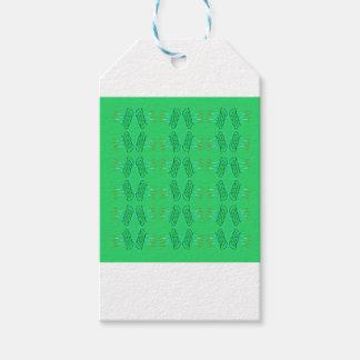 Wellness mandalas Green eco Gift Tags