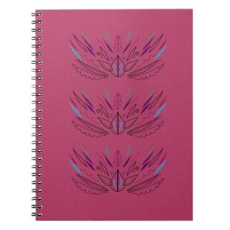 Wellness mandalas pink spiral notebook