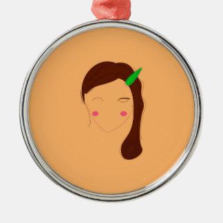 Wellness woman asia on gold metal ornament