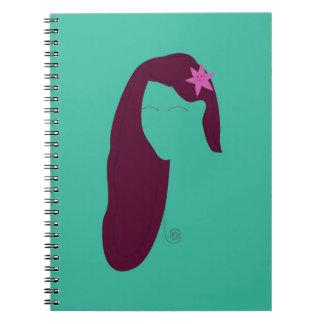 Wellness woman Eco green Spiral Notebook