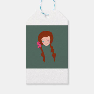 WELLNESS WOMAN Long hair Eco green Gift Tags