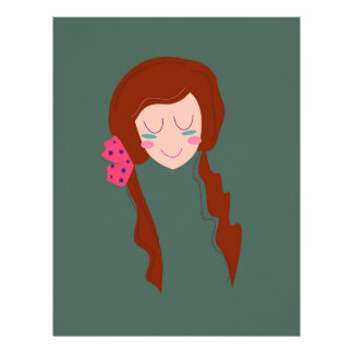 WELLNESS WOMAN Long hair Eco green Letterhead