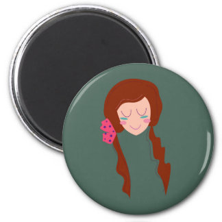 WELLNESS WOMAN Long hair Eco green Magnet