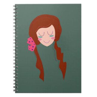 WELLNESS WOMAN Long hair Eco green Notebook
