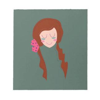 WELLNESS WOMAN Long hair Eco green Notepad