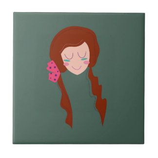 WELLNESS WOMAN Long hair Eco green Tile